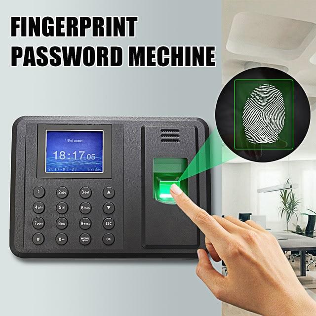 Biometric Touch ID Time Clock Recorder Password Fingerprint Attendance  Machine