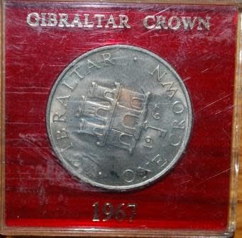 Great Britain 1967 Gibraltar Crown Coin Was Sold For R85 00 On 13 Oct At 11 00 By