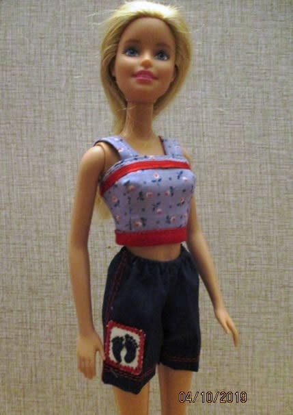 Barbie doll Clothing item Basic Navy Blue Shorts