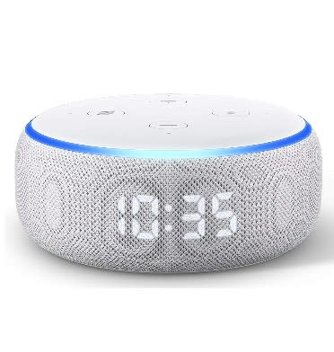 Amazon Echo Dot 3rd Generation with Clock