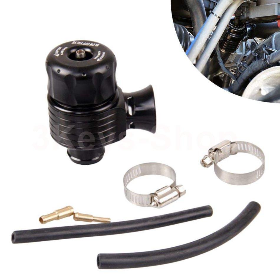 25mm Universal Adjustable Car Dual Port Turbo Dump Blow Off Wastegate Valve Bov Black