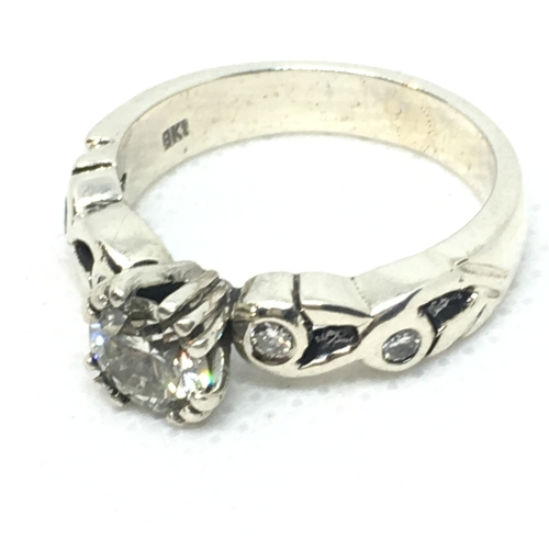 Stunning White Gold Diamond Ring For Sale In