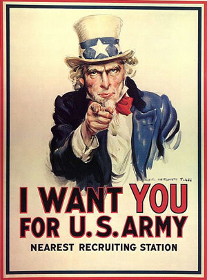 Uncle Sam War Poster