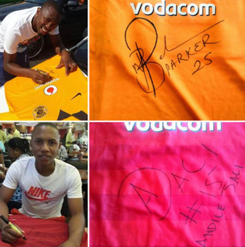 Signed soccer shirts on bidorbuy auctions