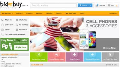 bidorbuy home page
