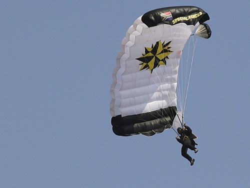 Special forces paratrooper